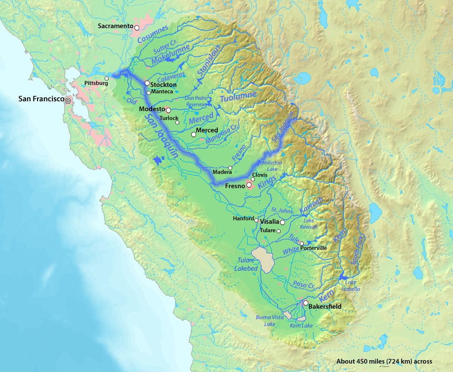 Gold Mining in California - San Joaquin River